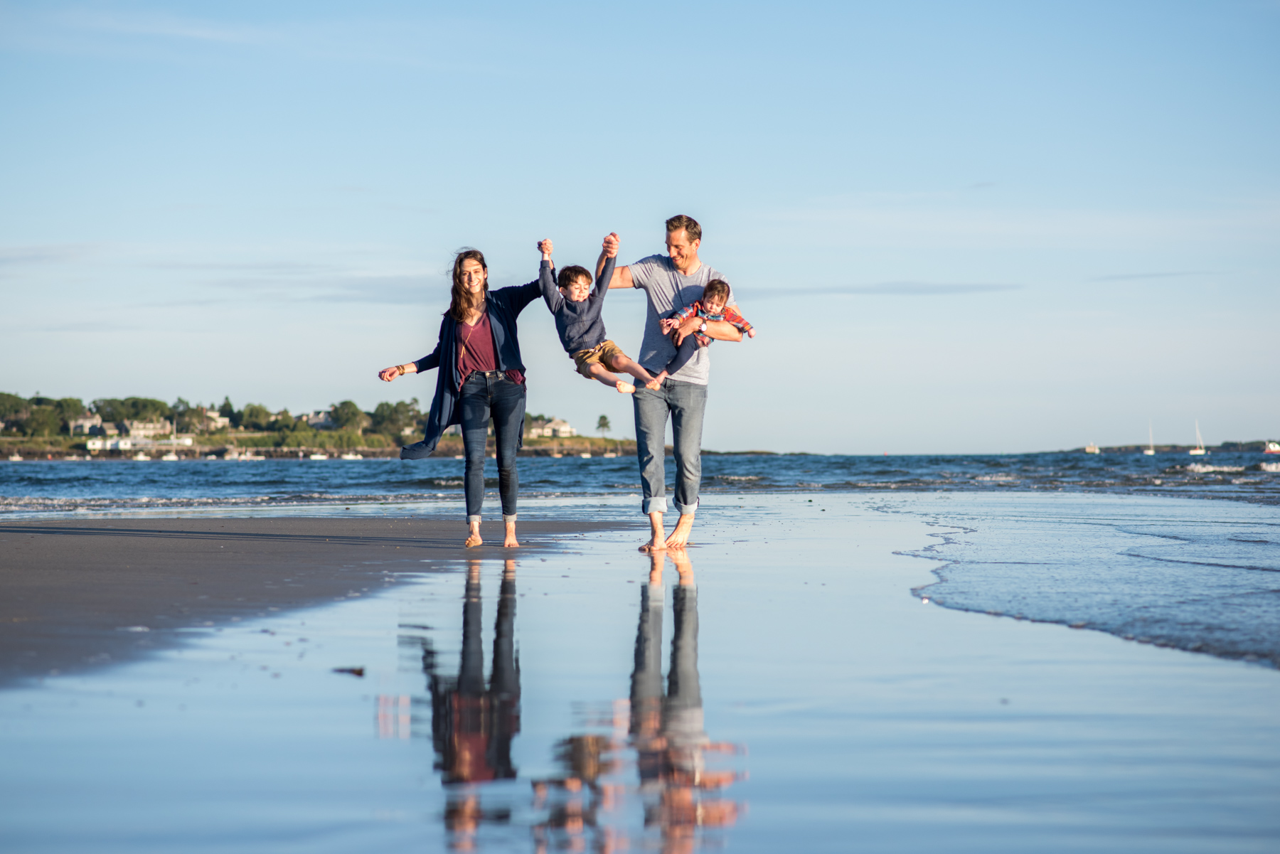 Maine Family Portraits. Beach Portraits.
