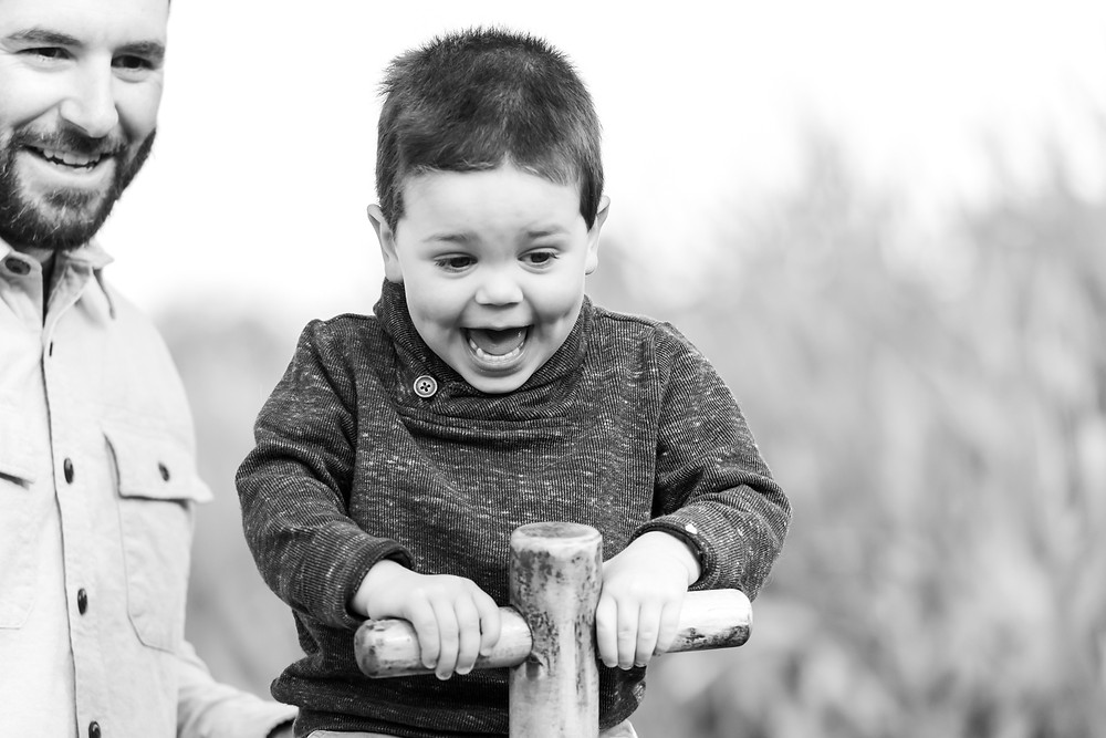 boy on seesaw