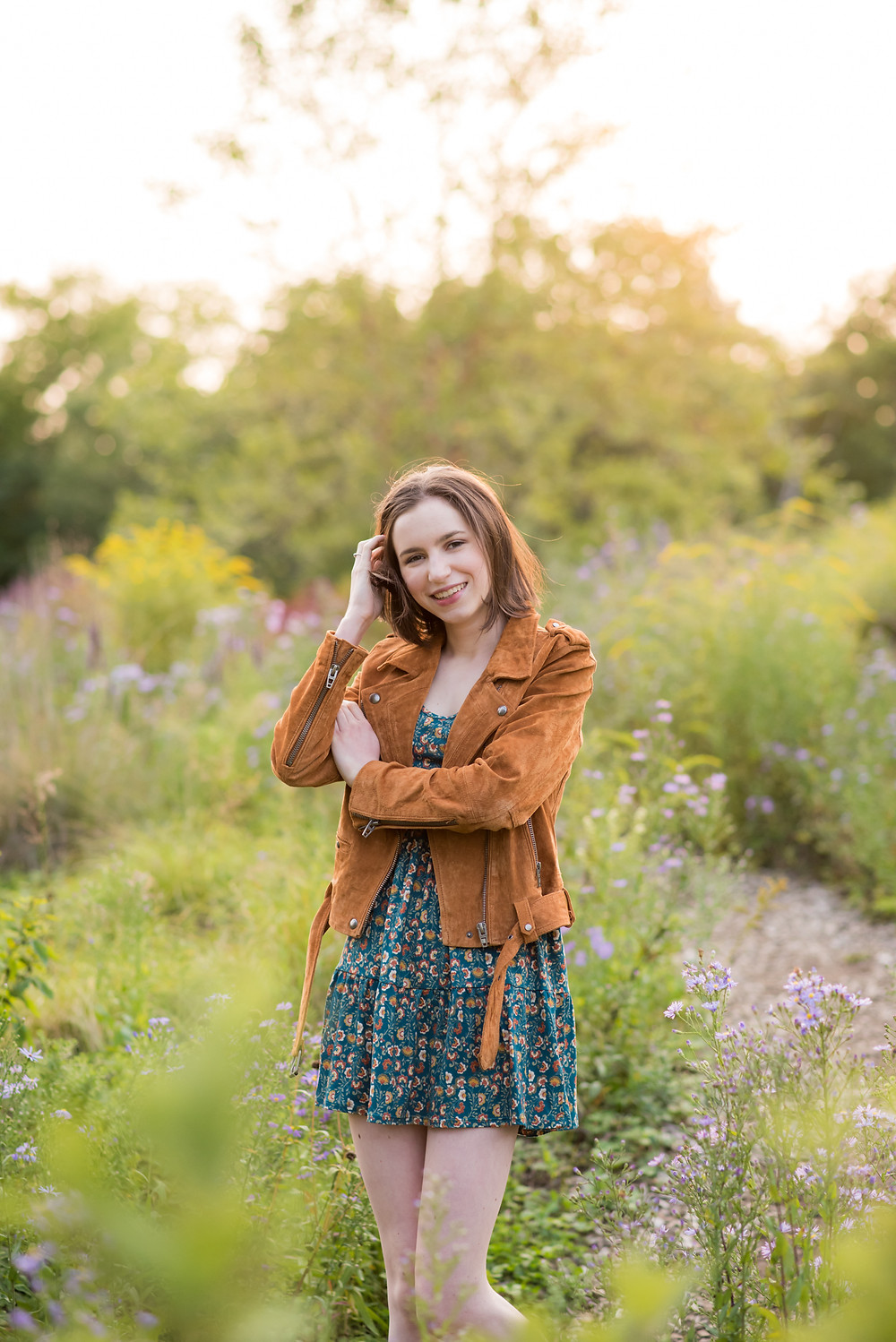 Maine HS senior girl portrait