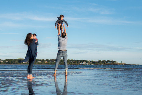 Gorgeous low tide family session at Pine Point ~ Patience Cleveland Photography