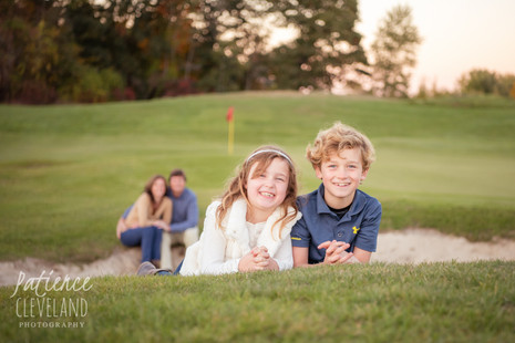 Fall colors, a golf course and a beautiful family!