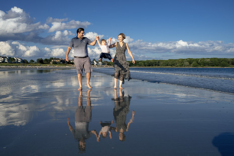 Family session at Goose Rocks Beach ~ Kennebunkport, Maine ~ Maine Family Photographer