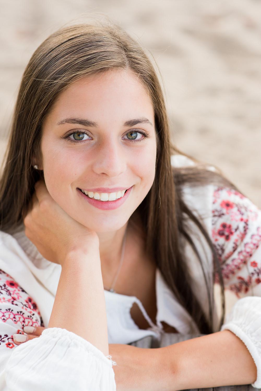 High school senior portraits girl