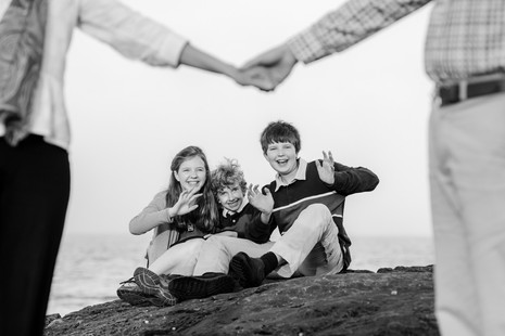 Family session on Maine's rocky coastline ~ Maine family photographer