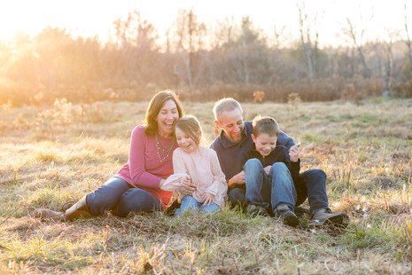 Beautiful Fall light and oh so many laughs ~ Fall Family session ~ Patience Cleveland Photography