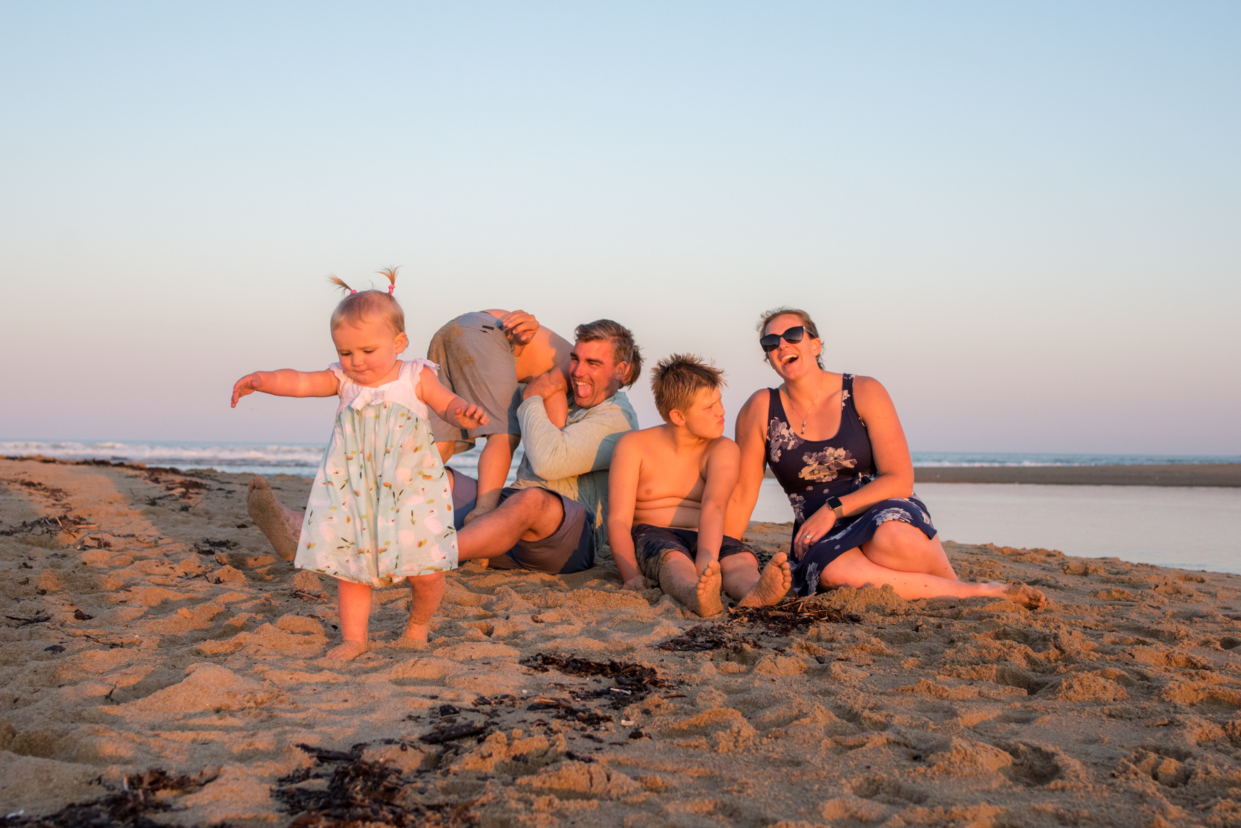 maine family beach session