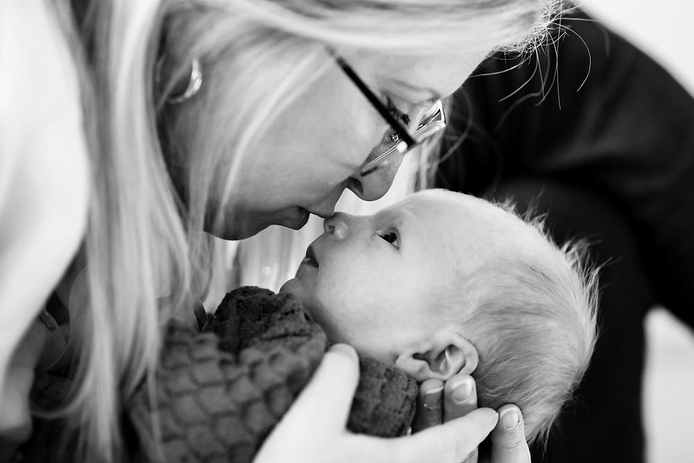 Newborn baby and mom