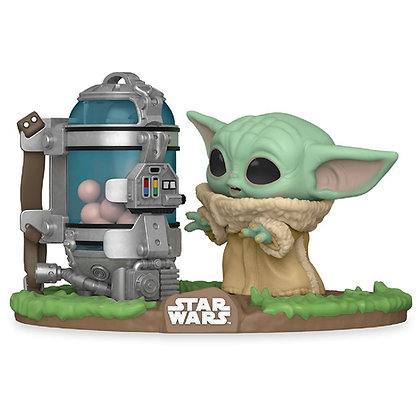 THE CHILD WITH EGG CANISTER : STAR WARS THE MANDALORIAN - POP DELUXE