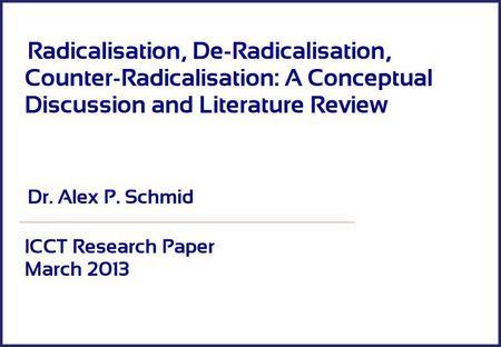 Radicalización, desrradicalización, contraradicalización: una discusión conceptual