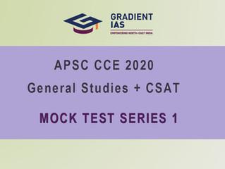 APSC Prelims TEST SERIES launched - FAQ.