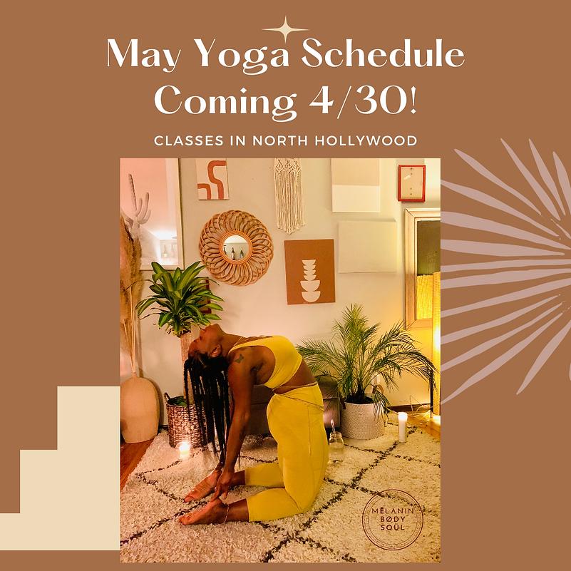 Minimal Peach Yoga Class Instagram Post-