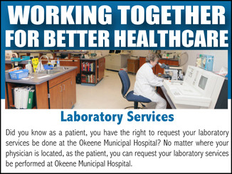 Have your lab services done at Okeene Hospital