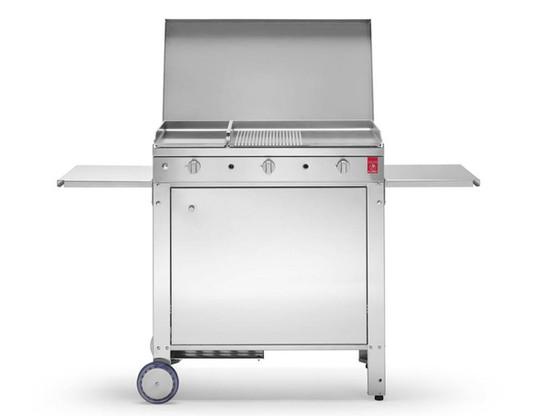 Barbecue a gas in acciaio