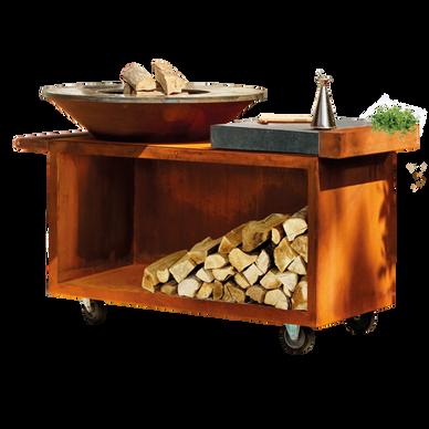 Barbecue in acciaio Corten