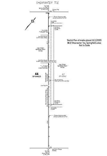 3042 Sketch plan marks placed 22 Shearwa