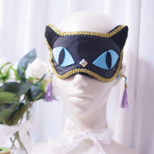 【公式ストア限定】【送料無料】黒猫 猫耳 キャット 耳 アイマスク シルク おしゃれアイマスク ルームウェア プレゼント ギフト 彼女 誕生日 猫好き 猫グッズ