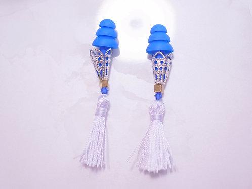 ホワイトタッセル 可愛い耳栓 美しい光沢 おしゃれ耳栓 耳栓 ティファニーで朝食を