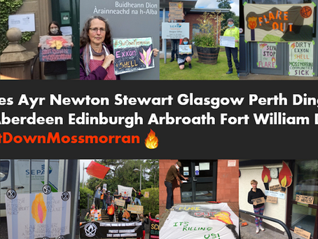 Climate Camp brings the flare across Scotland - Press Release