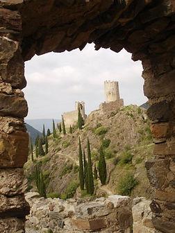 The four Chateaux du site de Lastours