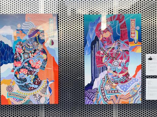 渋谷 ウエマツ画材店 店頭展示しています。