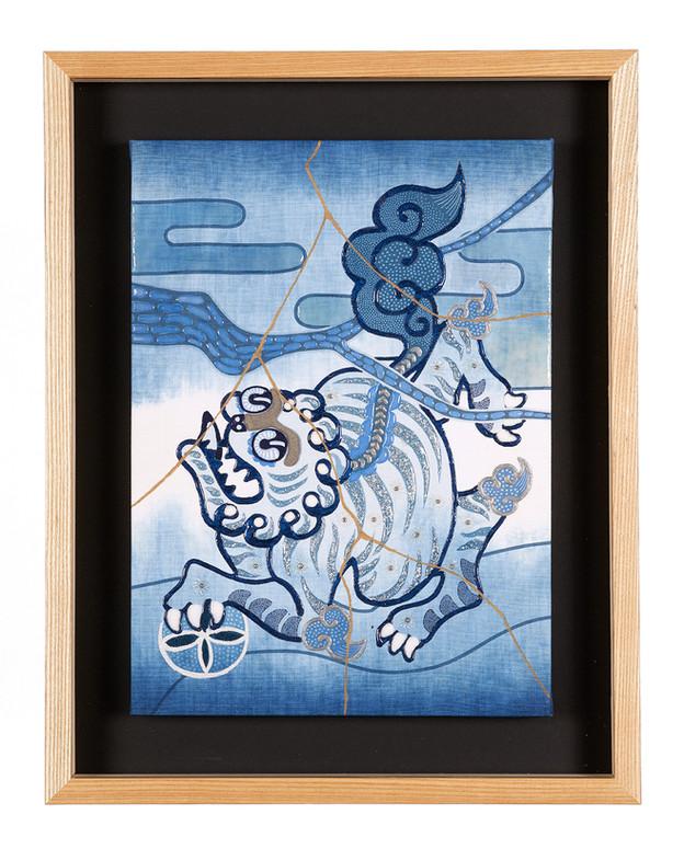 Komainu A blue JAPAN BLUE