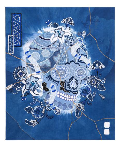 skull UN  JAPAN BLUE