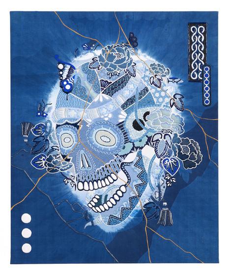 Skull-A JAPAN BLUE