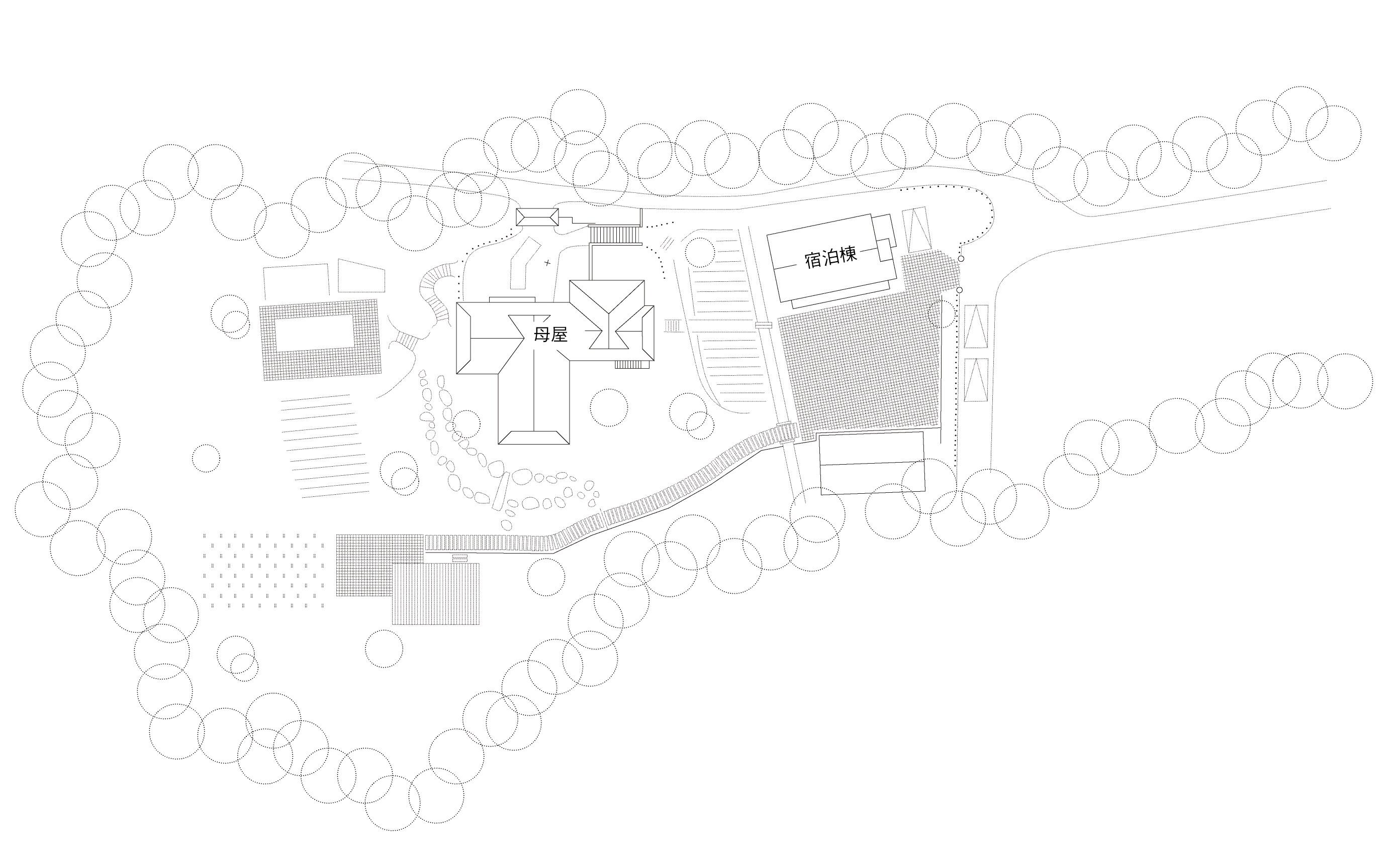 森と空と家_俯瞰図