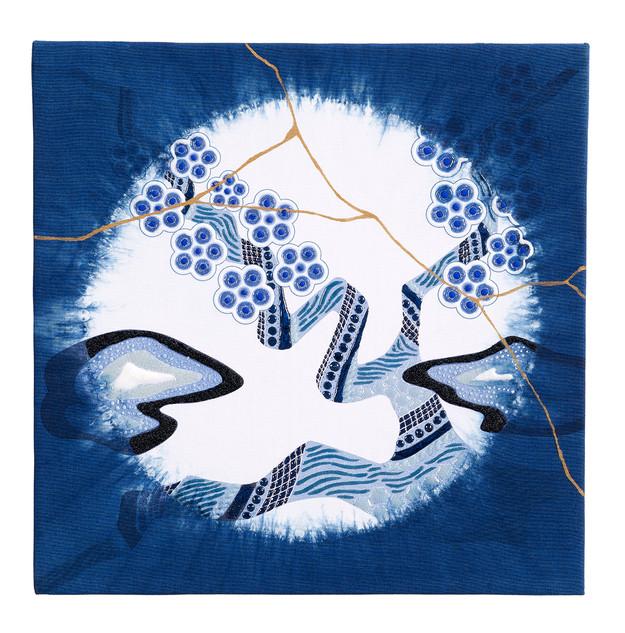 enso flower plum JAPAN BLUE