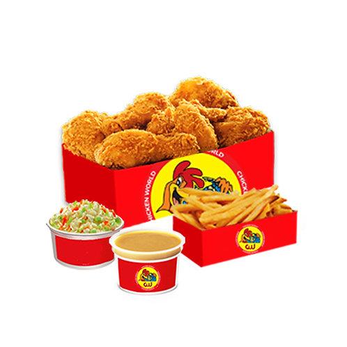 10Pcs Fried Chicken Family Bucket