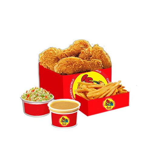 5Pcs Fried Chicken Family Bucket