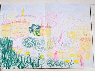 Abstract cityscapes sketchbook
