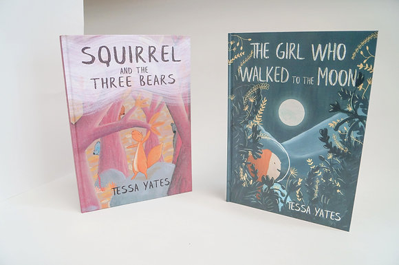 One of each - The Girl Who Walked to the Moon+ Squirrel and the Three Bears