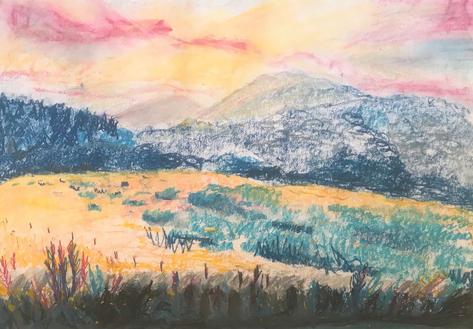 Lake District - chalk pastel