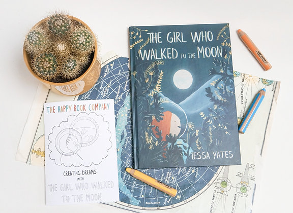 The Girl Who Walked to the Moon - astronomical gift pack