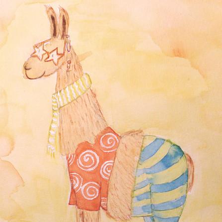 Elton the llama