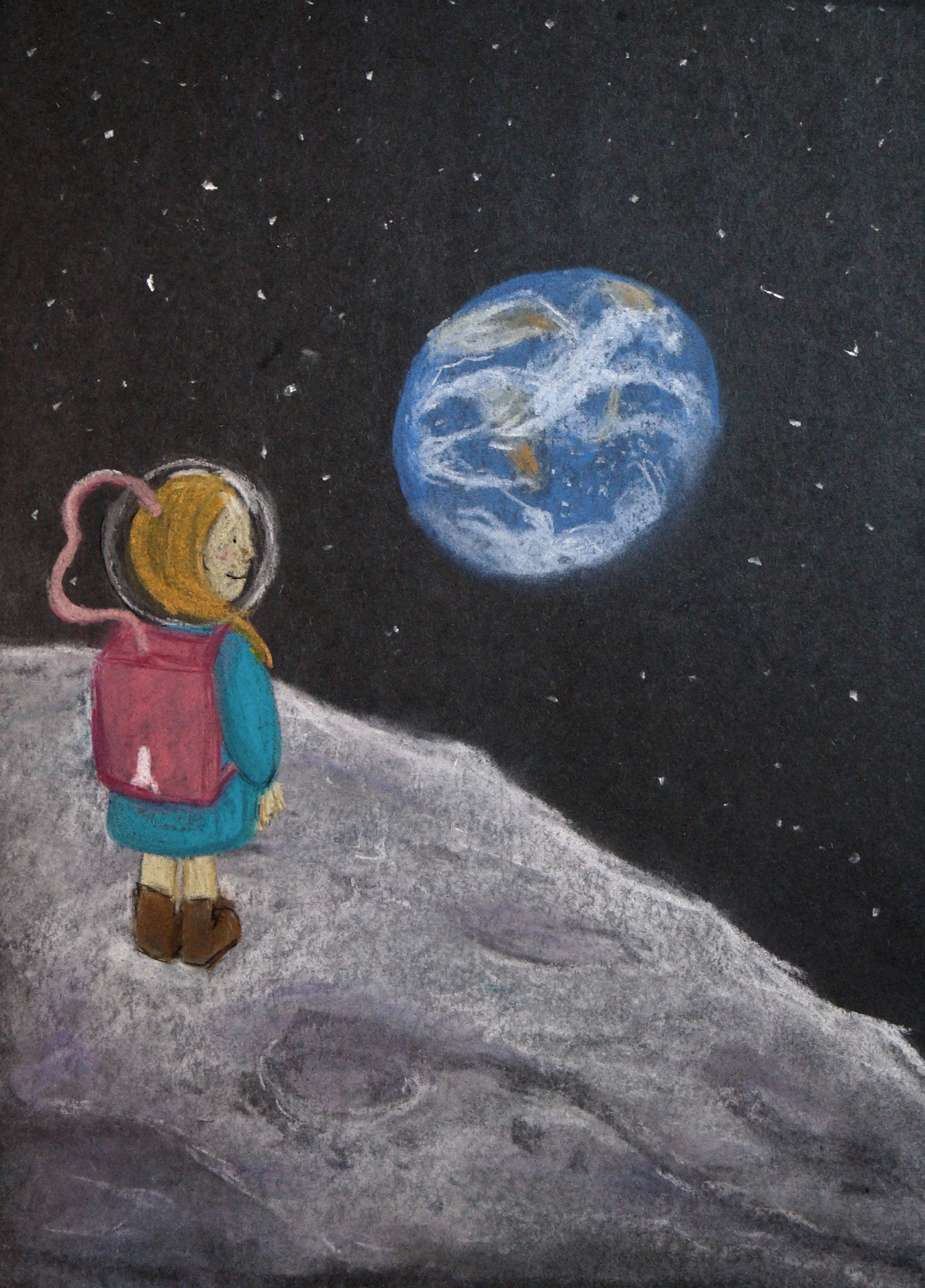 Artemis dreams that one day soon, she will have made it to the moon.