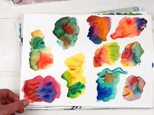 Watercolour experiment sketchbook