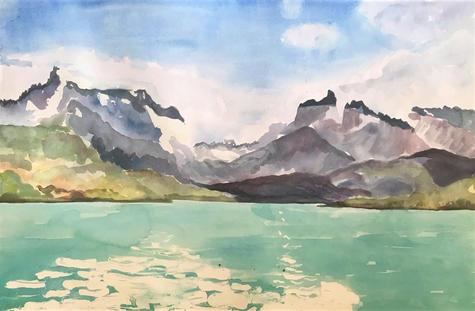 Patagonia - watercolour