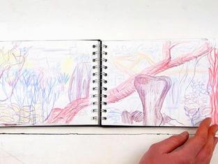 Watercolour landscapes and doodles