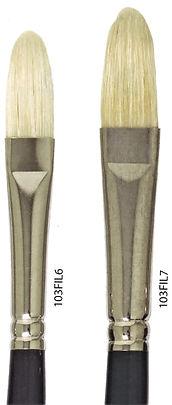 Hog Bristle Filbert Brushes - Online Art Supplies