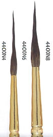 Needlepoint Squirrel Brush - Professional Artists Brushes