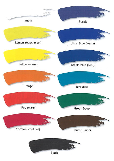 Derivan Inks colour samples for lino blocks or monotypes - Professional Artist Supplies