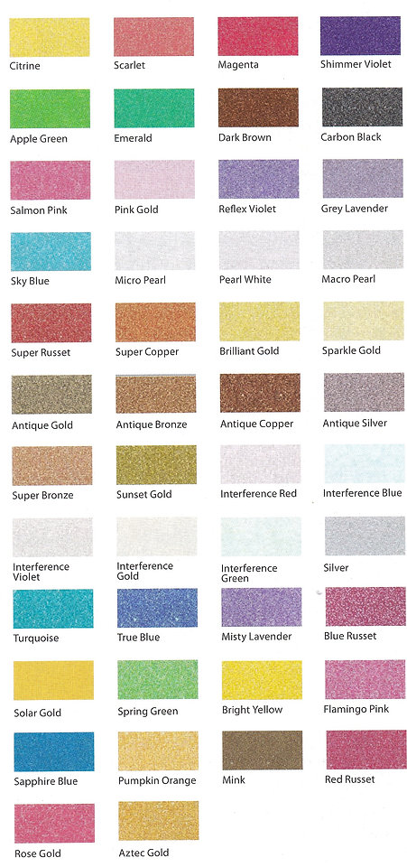 Jacquard Pearl Ex Pigment Powders are used to produce pearl lustre effect on metallic sheen - Art Studio Supplies