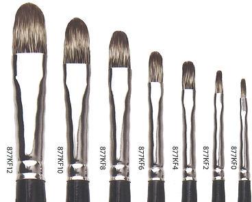Natural Badger Filbert Brushes - Art Studio Supplies