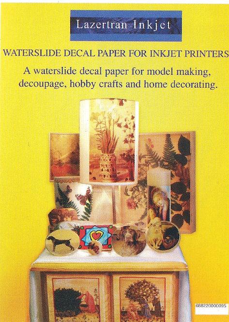 Lazertran Waterslide Paper for Inkjet Printers