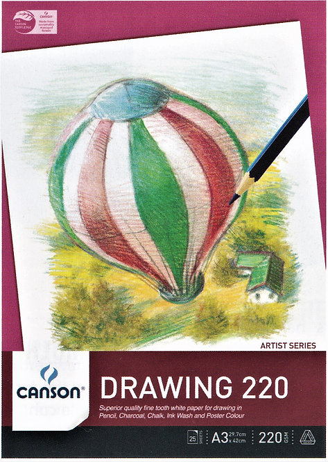 220 gsm Canson Drawing Pad, 25 pages