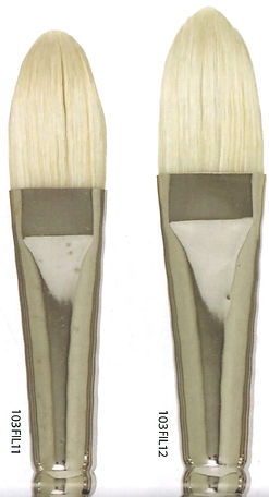 Filberts Bristle Brushes are made from naturally curved hairs - Art Studio Supplies