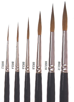 Natural Hair Liners, Rigger, Daggers and Strippers for excellent detailing - Art Studio Supplies