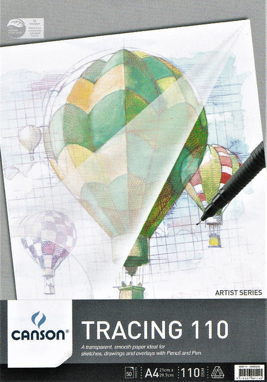 90 gsm Canson Tracing Paper Pads